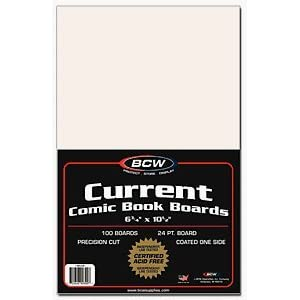 1 Pack of BCW Current Comic Book Backing Boards (Pack of 100)
