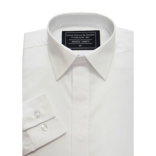 Boys Smart Standard Collar Dress Shirt White with Single Cuff ideal for school
