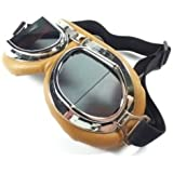 Vintage Aviator Pilot Goggles for Cruiser Chopper Motorcycle Scooter ATV Adult