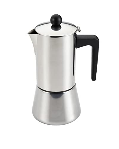 BonJour 6-Cup Stovetop Espresso Maker, Stainless Steel