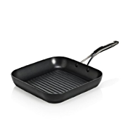 25cm Non-Stick Black Aluminium Griddle Pan