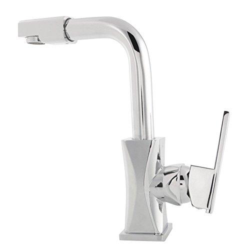 Armatur Wasserhahn Waschtisch Einhandmischer 360°Spültisch Küchen Armatur Profi Küchenarmatur Wasserkran Chrom