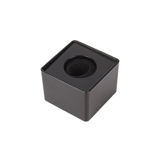 "Generic Portable Mic Microphone Interview Square Cube Logo Flag Station Black 1.54"" Hole"