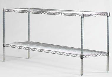 omega precision 2 shelf starter unit qty 2 30 deep x. Black Bedroom Furniture Sets. Home Design Ideas