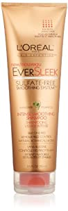 L'Oreal Paris EverSleek Sulfate-Free Smoothing System Intense Smoothing Shampoo, 8.5 Fluid Ounce