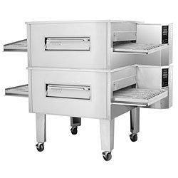 "84"" Electric Double Stacked Conveyor Oven - Zesto CE4832-2"