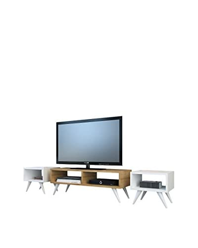 Minar Mueble Para Tv Vinca Tv Blanco/Natural