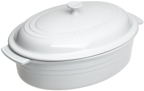Le Creuset Stoneware Covered Oval Dish, White - Buy Le Creuset Stoneware Covered Oval Dish, White - Purchase Le Creuset Stoneware Covered Oval Dish, White (Le Creuset, Home & Garden, Categories, Kitchen & Dining, Cookware & Baking, Baking, Bakers & Casseroles)
