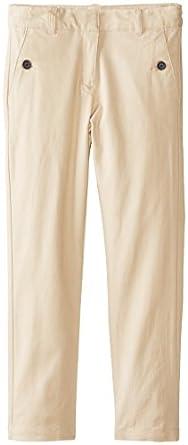 KHQ Big Girls'  Skinny Ankle Length Pant with Stretch, Khaki, 7