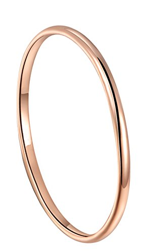 King Will 2mm Rose Gold Plated Polish Comfort Fit Domed Tungsten Carbide Ring Wedding Band(8)