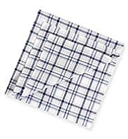 2 Pack Pure Cotton Checked Anti-Bacterial Handkerchiefs