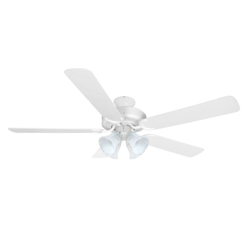 Yosemite Home Decor CALDER-WH-4 52-Inch Ceiling Fan with Light Kit, White
