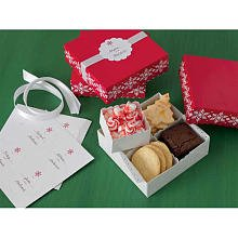 Martha Stewart Crafts Holiday Snowflake Compartment Treat Box
