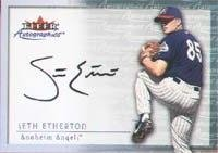 Seth Etherton Anaheim Angels 2000 Fleer Autographics Autographed Hand Signed Trading... by Hall+of+Fame+Memorabilia