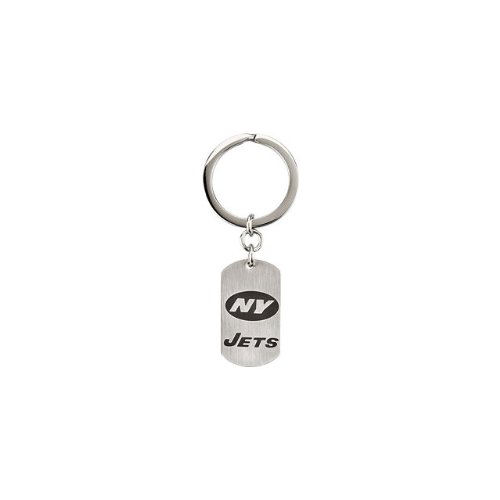 24580 St Steel 35mm New York Jets NFL Football Team Jewelry Men Keychain