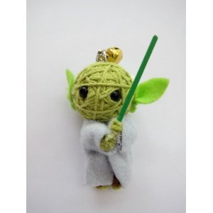 Green Elf Voodoo String Doll Keychain - 1