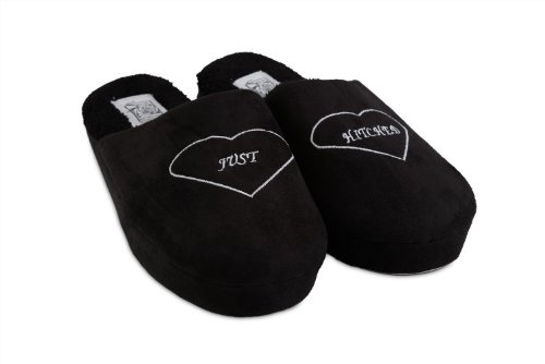 Cheap Groom's Just Hitched Wedding Slippers (B008JQM3PM)