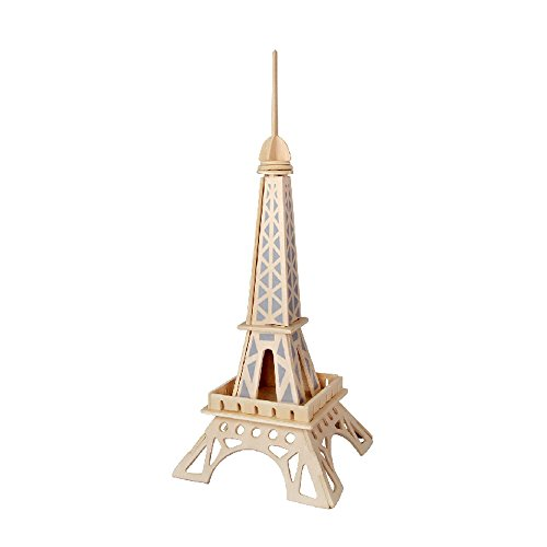 BUYBEST 3D Jigsaw Woodcraft Kit Wooden Puzzle - Eiffel Tower - 1