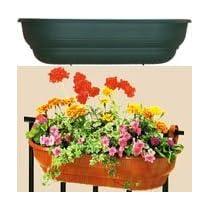 27 in. wall basket- self watering for decks or metal railings