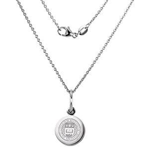 Boston College Sterling Silver Necklace with Silver Charm by M.LaHart & Co.