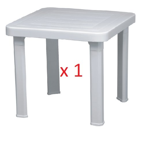 Resol Sun Lounger Side Table / Garden Table Polypropylene Plastic (Sold Singularly) - UV Resistant, stylish and durable furniture for your garden