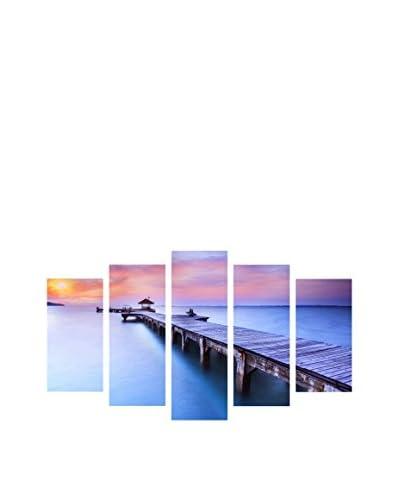 LO + demoda canvas foto 5 stuks . Set Love And Beach