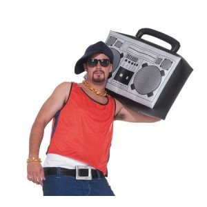 80s Hip Hop Inflatable Boombox Accessory
