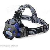 Solid 3Watt Zoom Headlamp Camping Night Outdoor LED High Power Blue/Orange