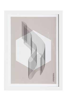 "House Doctor Bild ""Geometric play vol. 2"", weiß, 33,7x46cm"