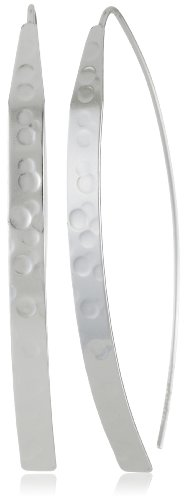 Sterling Silver Hammered Dagger Earrings