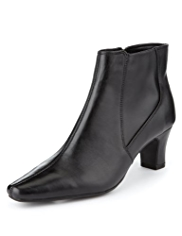 M&S Collection Leather Panelled Ankle Boots