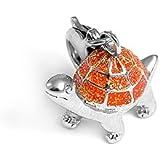 Charms Anhänger für Bettelarmband Schildkröte orange