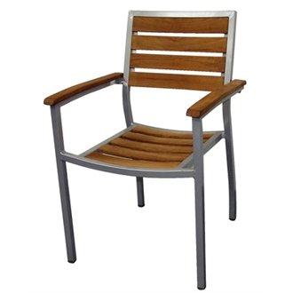 Teak & Aluminium Chairs Size (mm): 860h x 558w x 520d