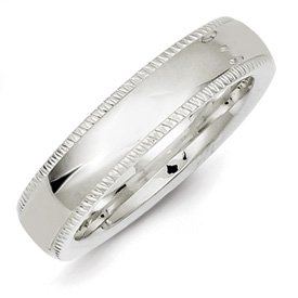 Genuine IceCarats Designer Jewelry Gift Ss 5Mm Millgrain Comfort Fit Band Size 9.50