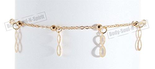 Gold Color Dangle Infinite Ankle Foot Leg Fashion Bracelet Charm Adjustable Jewelry