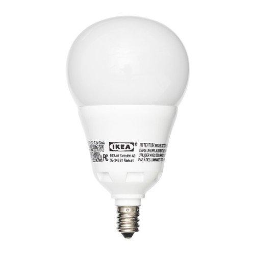 ikea ledare led bulb e12 400 lumen 6 3 watts opaque bulb. Black Bedroom Furniture Sets. Home Design Ideas