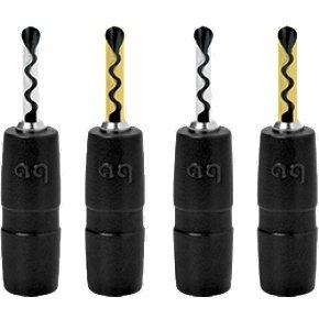 Audioquest Suregrip Bfa Silver (2 Pairs) Banana Plugs