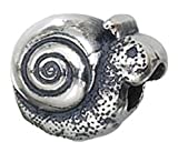 Genuine Zable (TM) Product. 925 Sterling Silver Snail Bead Charm. 100% Satisfaction Guaranteed.