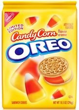 Oreo Candy Corn Creme Filled Sandwich Cookies Limited Edition 10.5 Oz (Pack of 4)