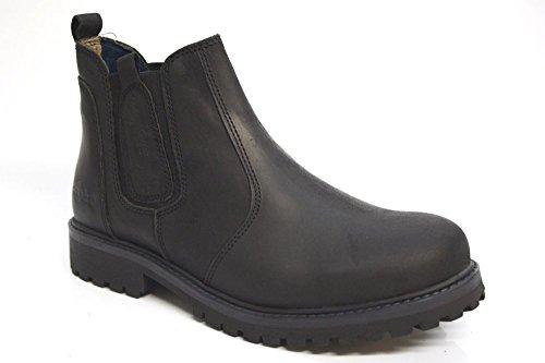 Wrangler David da uomo nero in pelle Chelsea stivali alla caviglia, taglia UK 6-12, nero (Black), 39,5 EU