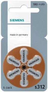 Siemens Type 312 PR41 ZL3 Lot de 60 piles zinc-air pour prothèse auditive