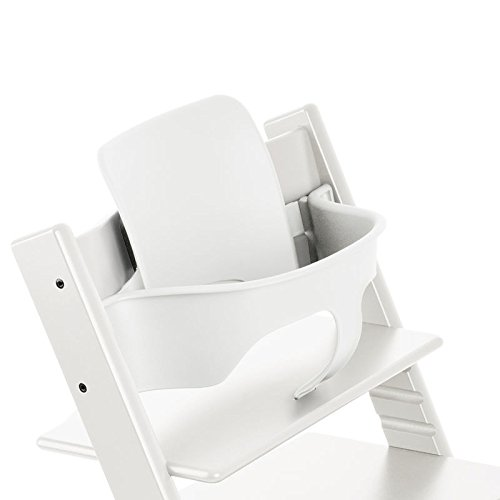 stokke tripp trapp high chair with baby set white. Black Bedroom Furniture Sets. Home Design Ideas