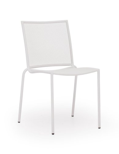 Zuo Outdoor Repulse Bay Chair, White, Set Of 4 front-97304