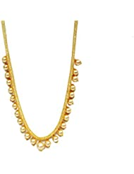 Jewellery Dhaba Gold Colour With Pearl Necklace Set For Women