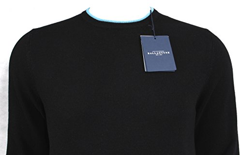Ballantyne Pullover A/I 16-17 Mod. H2P000 12K25 Black-Tourquoise - 48