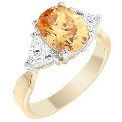 T26 Tqw10407Zva Beautiful 4 Carat Champagne CZ Diamond Engagement Anniversary Fashion Ring (7)