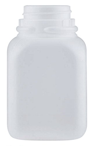 8oz Natural HDPE Plastic Beverage Container/Bottle with Tamper Evident Snap-Screw Lids/Caps (pack of 20) (Plastic Beverage Jug compare prices)