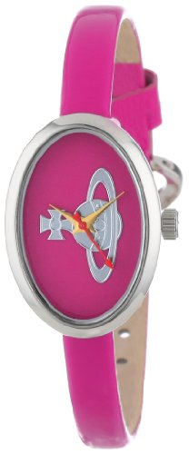 Vivienne Westwood Medal Women's Quartz Watch with Pink Dial Analogue Display and Pink Leather Strap VV019PK