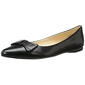 Nine West Women's Schmakaroo Leather Ballet Flat