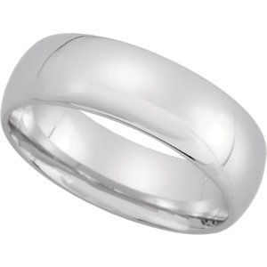 Genuine IceCarats Designer Jewelry Gift 10K White Gold Wedding Band Ring Ring. 06.00 Mm Light Comfort Fit Band In 10K Whitegold Size 13